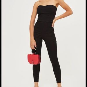 TopShop Moto Black Denim Jumpsuit - 4
